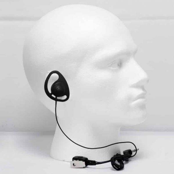 d shaped ear piece