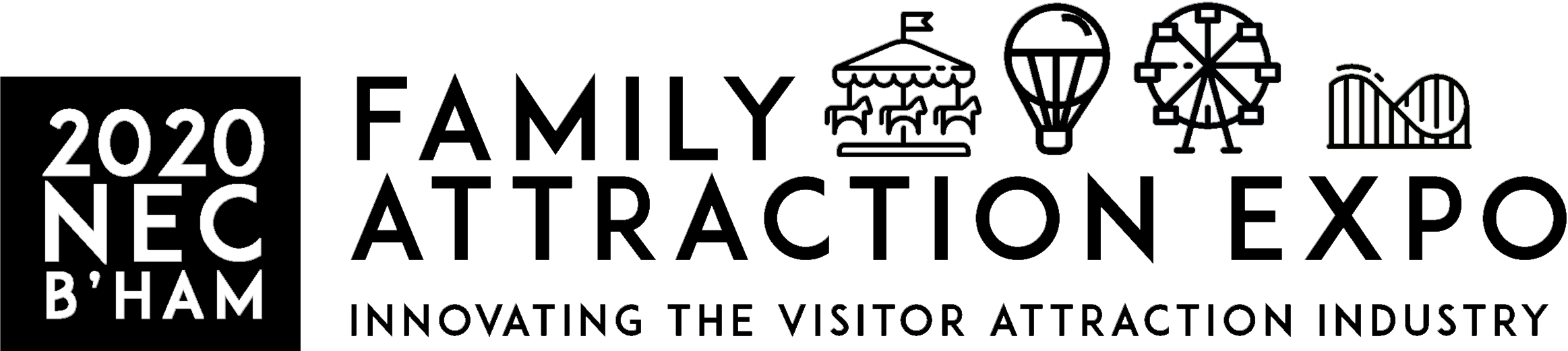 family attraction expo logo white large