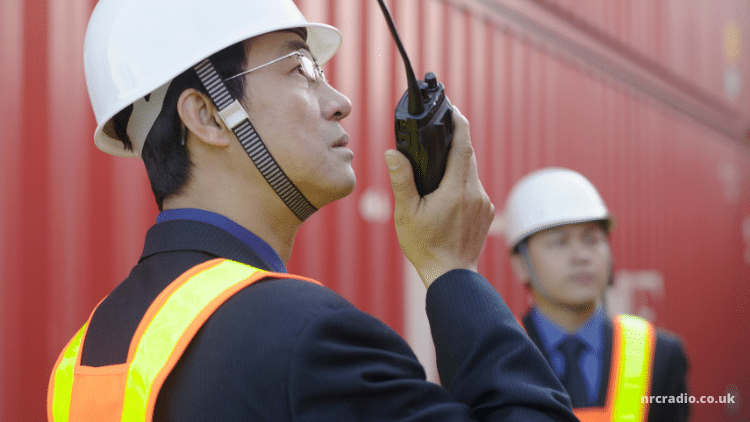 waterproof walkie talkie construction site